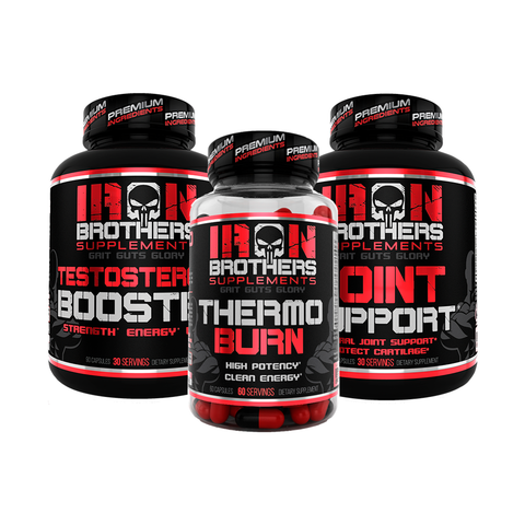 Thermo Burn, Test Booster & Joint Support Stack - Iron Brothers Supplements