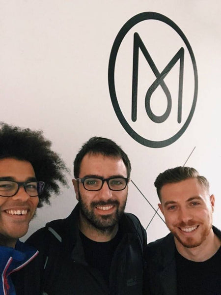 Joseph Inniss, Ralph Miller and Peter Stadden at Monocle 24's studios