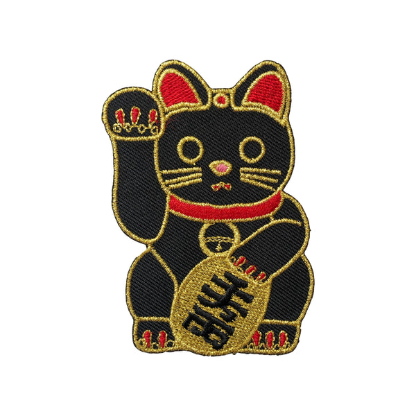 Black Maneki-Neko Patch