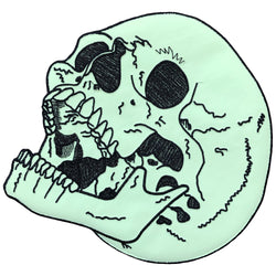 Glow in the Dark Skull Back Patch
