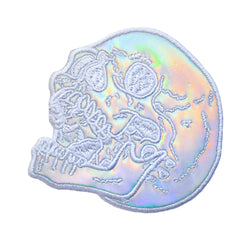 Holographic Skull Back Patch