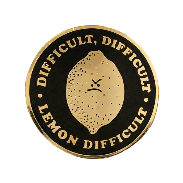 Difficult, Difficult Pin