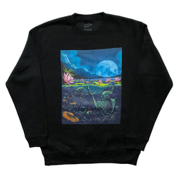 Lotus Pond Crew Neck Sweatshirt