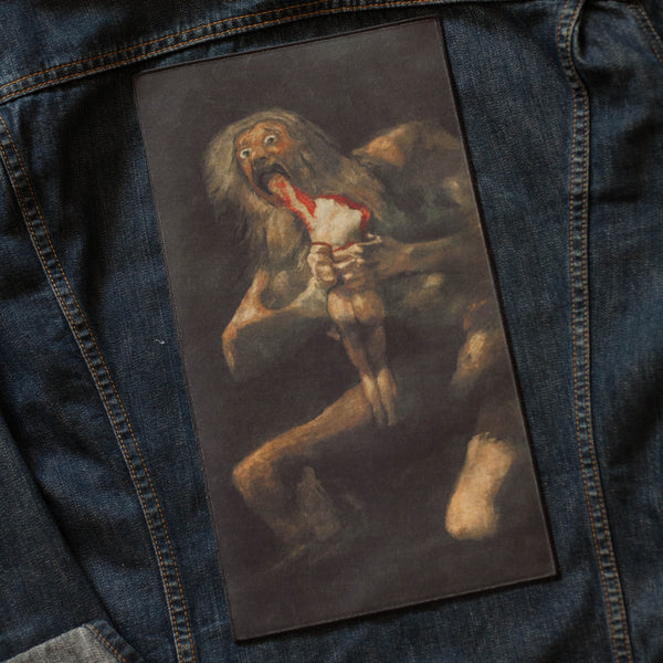 Saturn Devouring His Son Back Patch