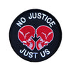 No Justice Hook and Loop Patch