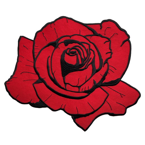 Red Rose Back Patch