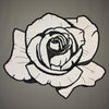 Reflective Black Rose Back Patch