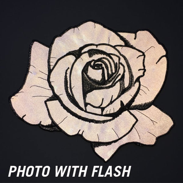 Reflective Rose Back Patch
