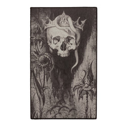 Skull Crowned with Snakes and Flowers Back Patch