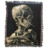 Skull of a Skeleton with Burning Cigarette Blanket
