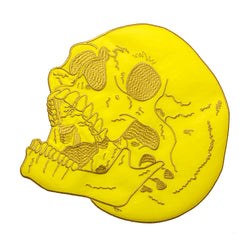 Reflective Safety Yellow Skull Back Patch