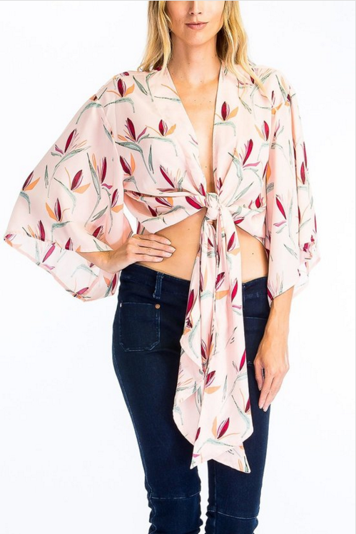 Lily of the Valley Wrap Blouse
