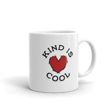 """Kind is Cool"" mug! Behold and share this awesome message!"
