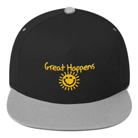 Great Happens Flat Bill Cap