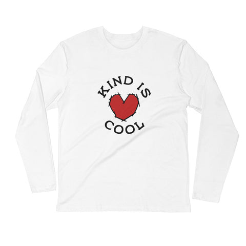 Kind is Cool! Long Sleeve Fitted Crew