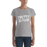 Pretty + Punk. It's the best combination! Women's short sleeve t-shirt