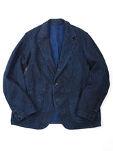 Indigo Linen Duck Asama Jacket in Indigo