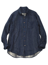 Indigo Double Woven Shirt in Stripe
