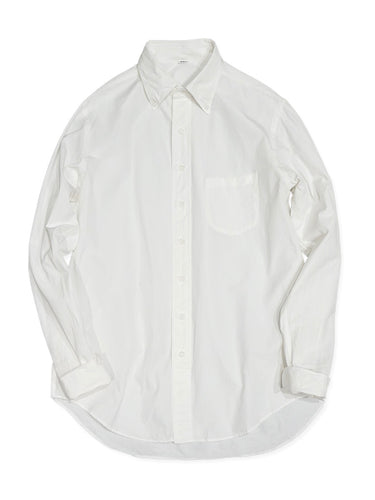 3 Ply Miko Button Down Shirt in White