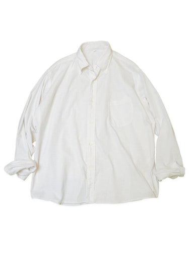 Hakeme Ocean Button Down Shirt in Ice White