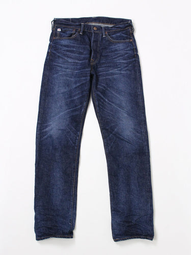 Sorahiko Denim in Indigo Distress