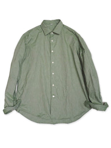 Zimba Oxford Coin Pocket Shirt in Green Chambray