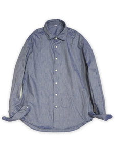 Zimba Oxford Coin Pocket Shirt in Blue Chambray