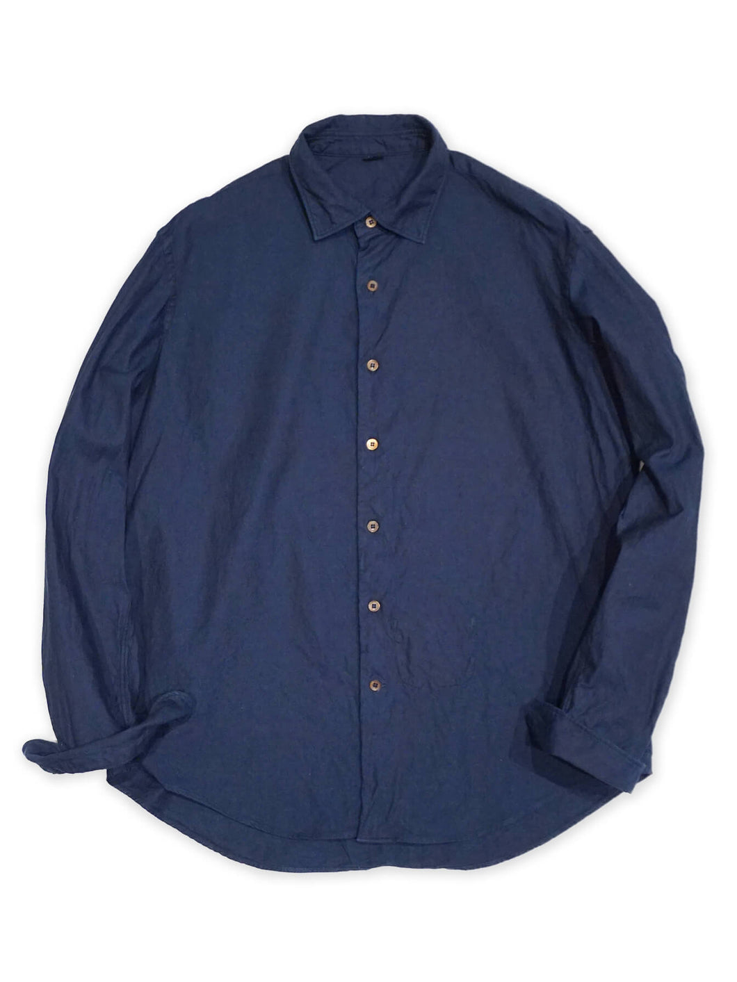 Indigo Zimba Oxford Coin Pocket Shirt in Indigo