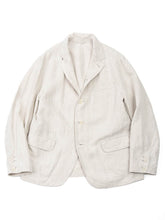Linen Jacket In Linen White