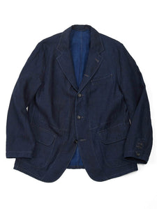 Indigo Linen Jacket in Indigo