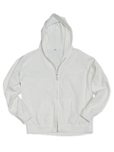 Cotton Blend Hoodie in White