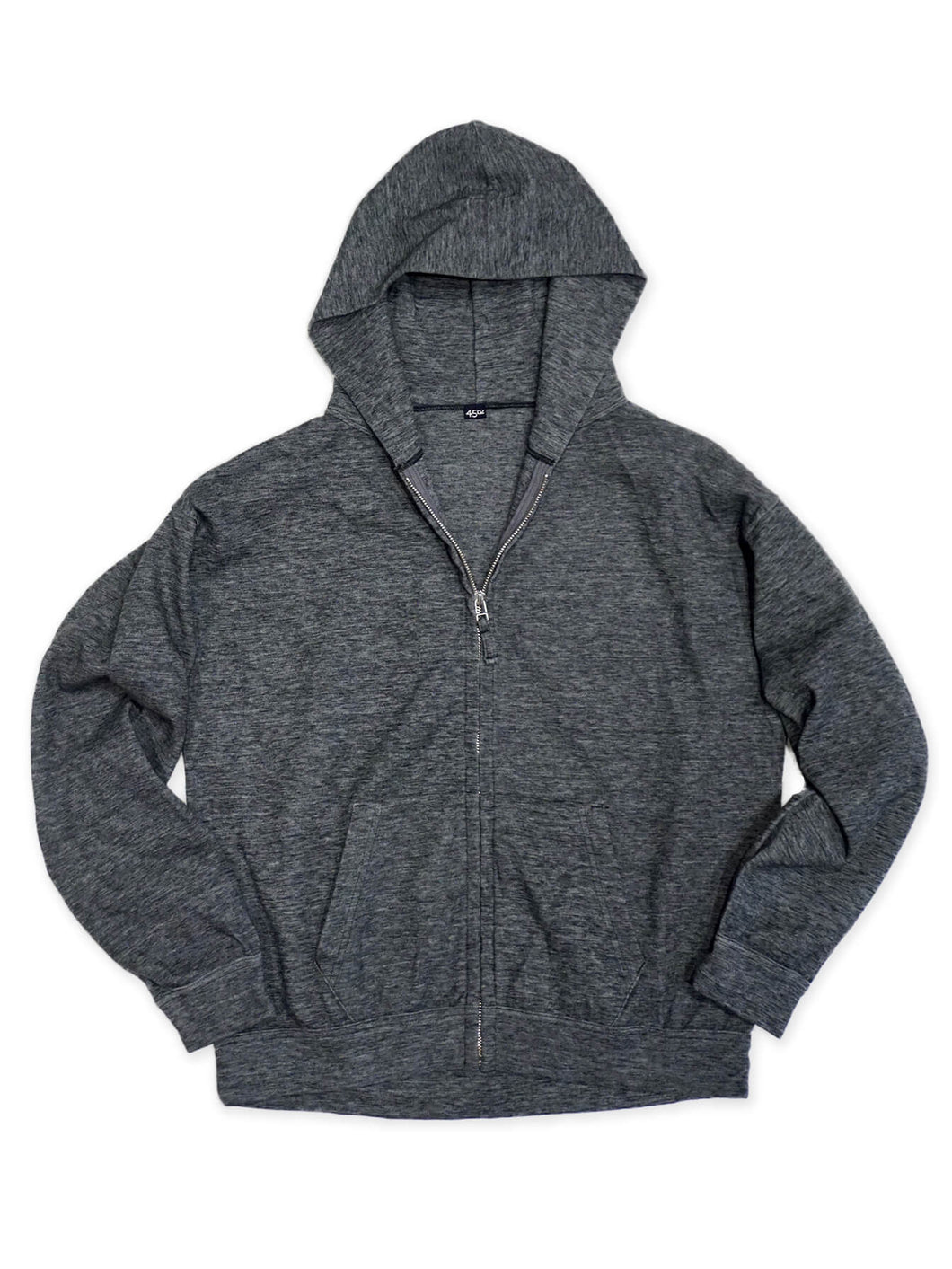 Cotton Blend Hoodie in Charcoal Moku