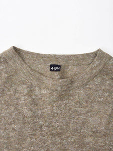 French Linen Blend Super Gauze Long Sleeve Knit T-Shirt