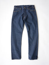 Supima Organic Ai-Indigo Denim 0417 Distress in Distressed Indigo