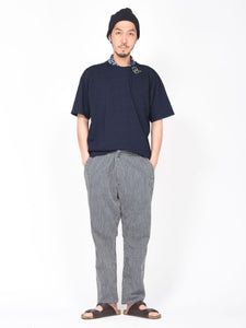Cotton Goma Hickory Sweat Pants Distressed