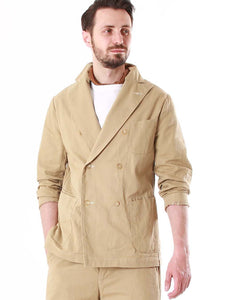 Men's Cotton Okome Chino Double Breasted Jacket