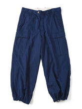 Indigo Goma Chino Cotton Joppan Cargo Pants in indigo
