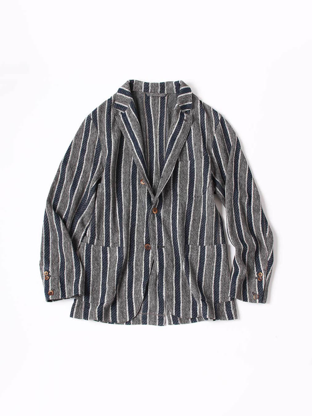 Indigo Regimental Knit Jacket