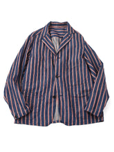 Cotton Linen Goma Denim Shirt Jacket in hickory indigo