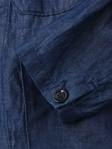 Cotton Linen Goma Denim Shirt Jacket
