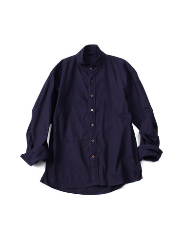 Oxford Stand Shirt in Navy