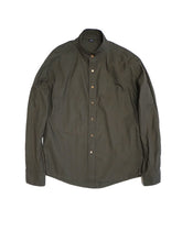 Oxford Stand Shirt in Green