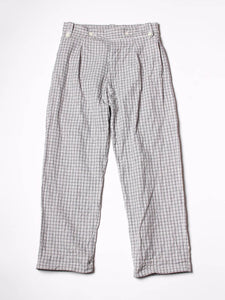 White Tweed Easy Gurka Pants