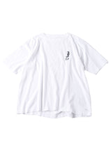 Ocean Story Zimba Cotton Embroidery Short Sleeve Ocean T-shirt (Seahorse) in white
