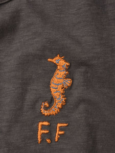 Ocean Story Zimba Cotton Embroidery Short Sleeve Ocean T-shirt (Seahorse)