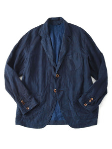 Linen Asama Jacket in indigo