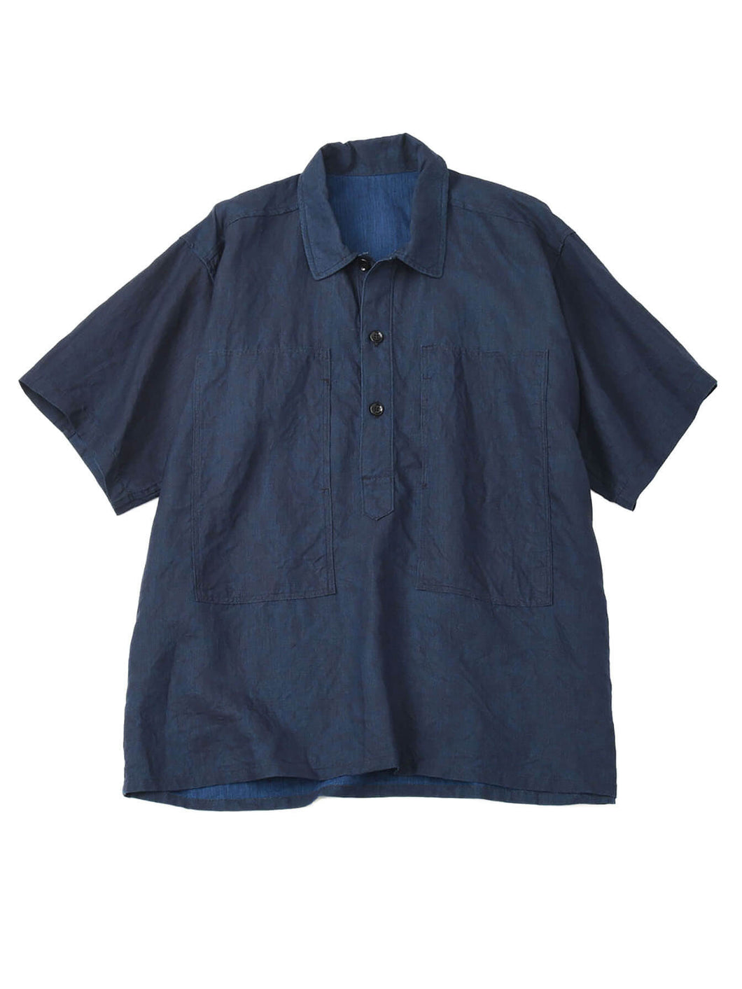 Indigo Linen Over Shirt in indigo