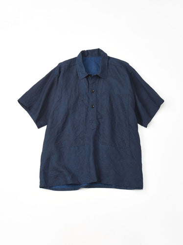 Indigo Linen Over Shirt in indigo (S)