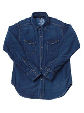 Ai Nando Awa Satin Cotton Eastern Shirt Distress in ai indigo