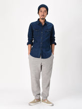 Ai Nando Awa Satin Cotton Eastern Shirt Distress